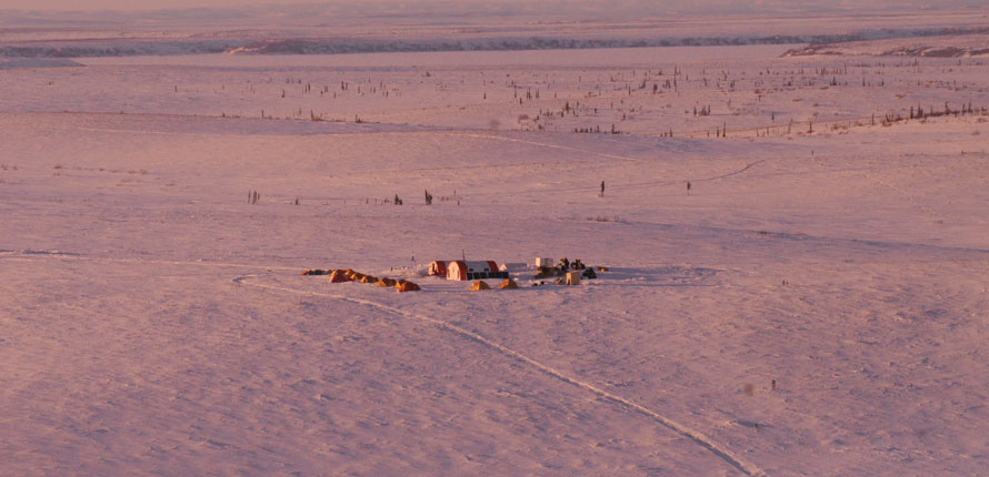 Field research site in Inuvik