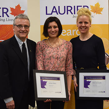 Laurier presents inaugural Early Career Researcher Awards to recognize research excellence