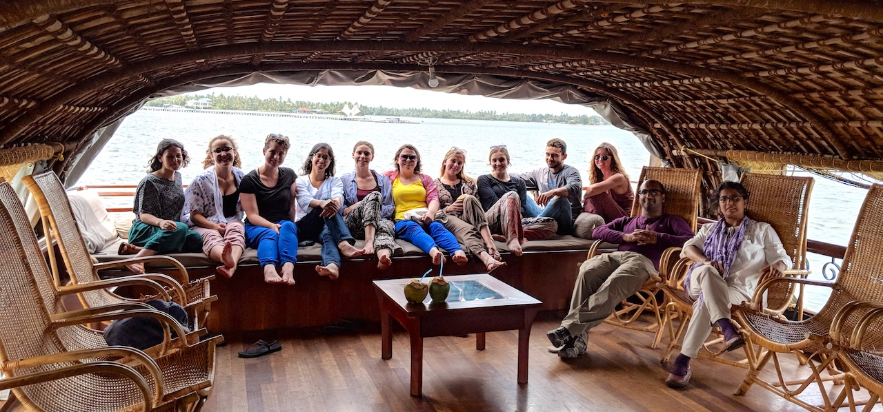 group on houseboat