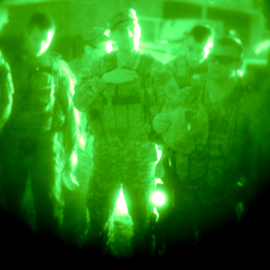 Robert Langen Art Gallery exhibition features video of nighttime military raid