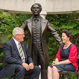Laurier provides a home to PM Statues Project