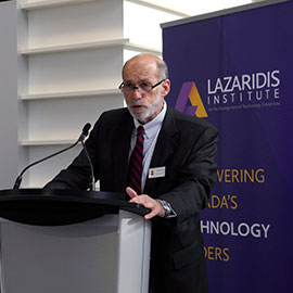 Laurier's Lazaridis Institute collaborates with Deloitte and TMX Group to support growth of Canadian tech firms