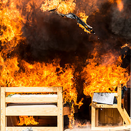 Laurier to host room burn demonstrations during O-Week with Waterloo Fire Rescue and Brantford Fire Department
