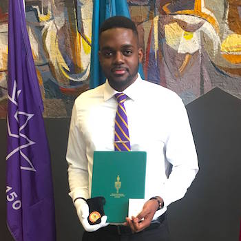 Laurier student Tarique Plummer receives Canada 150 Award