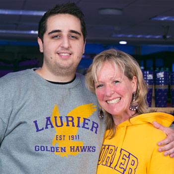 Image of Laurier student Maverik Lyddon with this mother, Ann Lyddon.