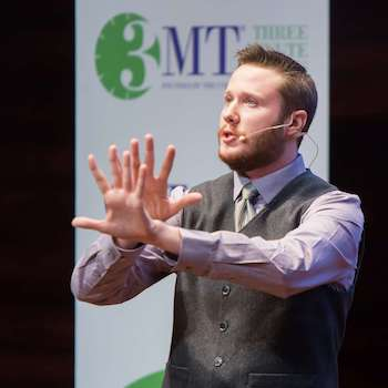Richard Edwards at the 3MT Ontario competition