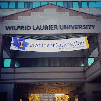 Laurier ranked No. 1 in student satisfaction for second year in a row in Maclean's university rankings