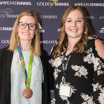 Emily Ferguson is the 2018 Outstanding Women of Laurier award recipient