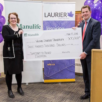 Manulife donates $300,000 to expand Laurier's Jumpstart to Higher Education program