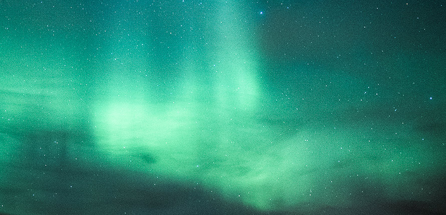 The Norther Lights above Iceland.