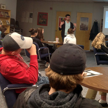 Laurier PhD student helps high school history class delve deep into the lives of First World War veterans