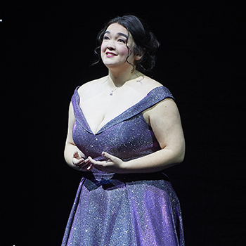 Midori Marsh performing at the Canadian Opera Company Ensemble Studio Competition