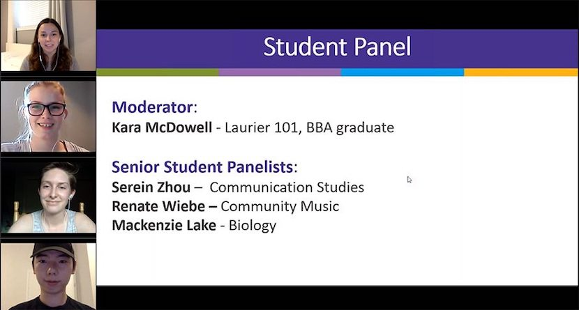 Student Panel zoom call